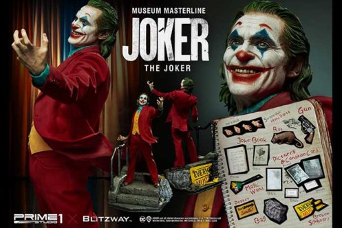 プライム1新作!正規版『ジョーカー』がついに立体フィギュア化!全高70cmの息をのむ迫力!