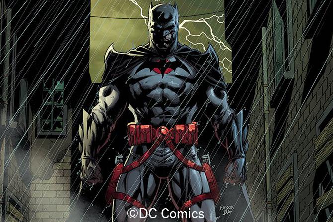 『フラッシュ』、幻のトーマス・ウェイン版バットマンのコンセプトアートが公開 - コミックに近い赤い目も