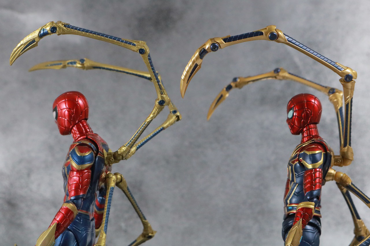 S.H.フィギュアーツ アイアンスパイダー FINAL BATTLE EDITION レビュー 付属品 スパイダー・レッグ ピンサー MAFEX 比較