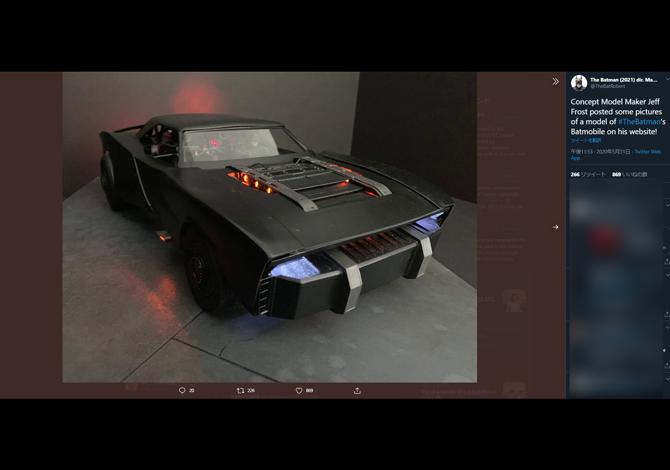 『ザ・バットマン』登場バットモービルのコンセプトモデルが公開 - クラシックデザインのクール車