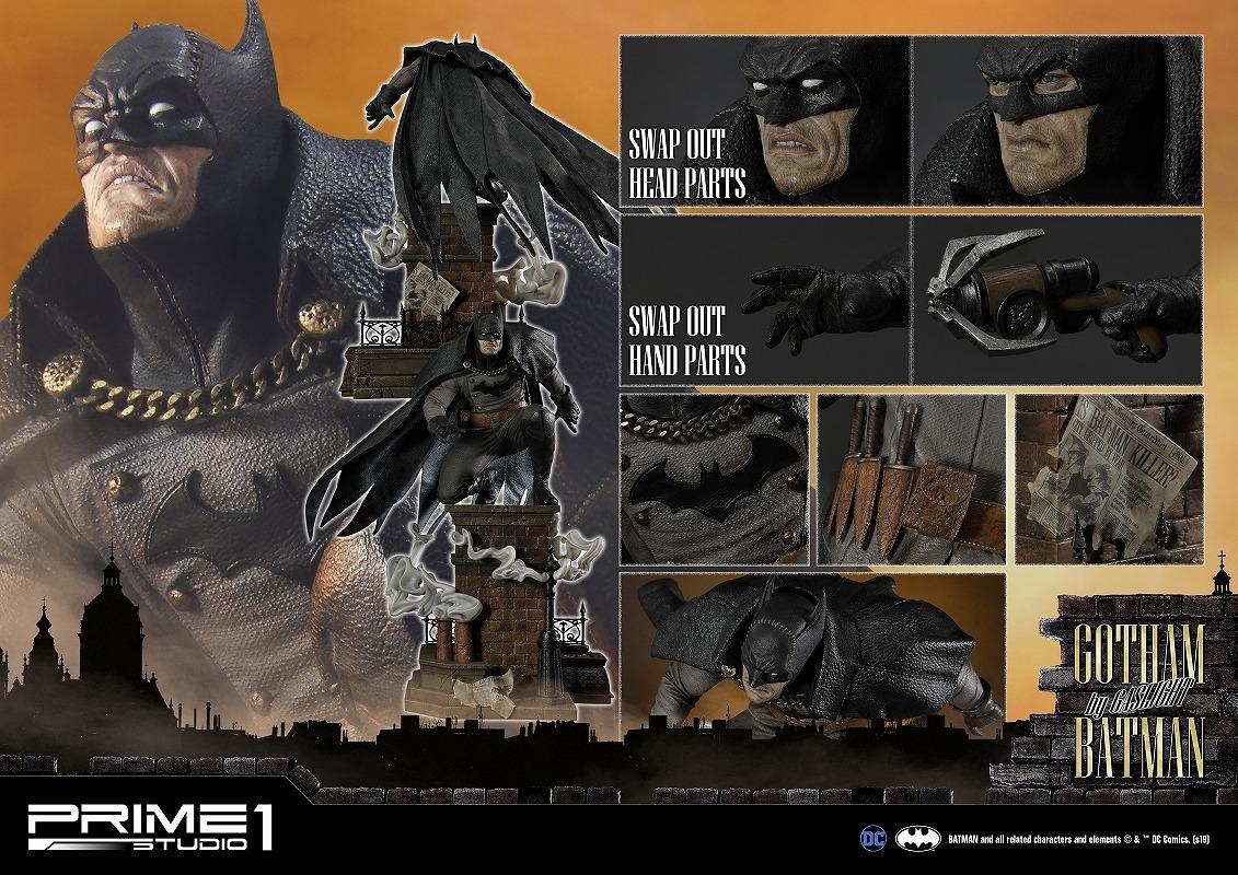 コンセプトマスターライン/ バットマン アーカム・ビギンズ: ゴッサム・バイ・ガスライト バットマン1/5 スタチュー ブラック ver CMDC-04