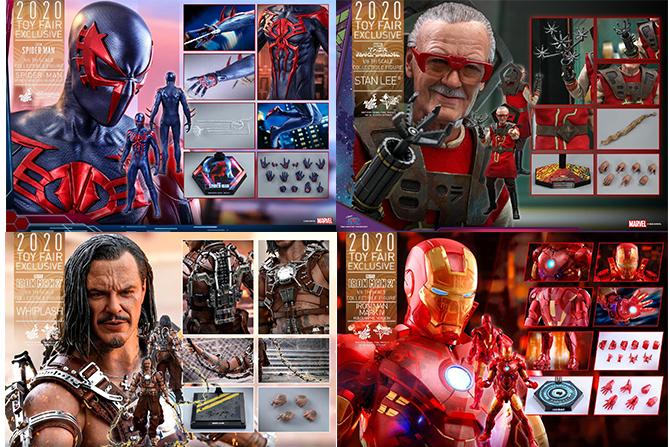 ホットトイズ新作!トイフェア限定『スパイダーマン2099』『スタン・リー(ラグナロク)』『ウィップラッシュ』『アイアンマン マーク4(ホロ)』登場
