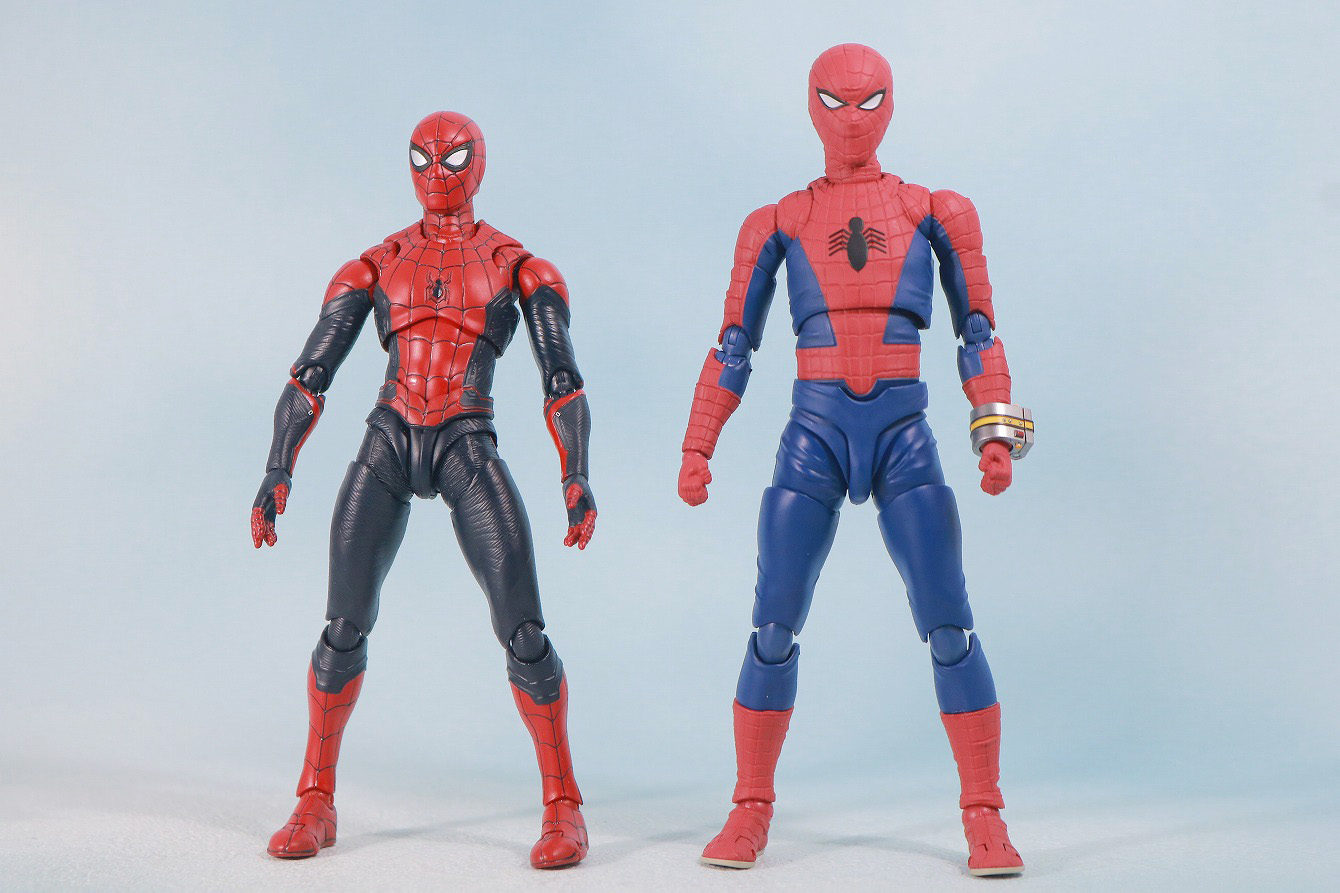 S.H.フィギュアーツ スパイダーマン 東映版 レビュー 全身 スパイダーマン アップグレードスーツ 比較