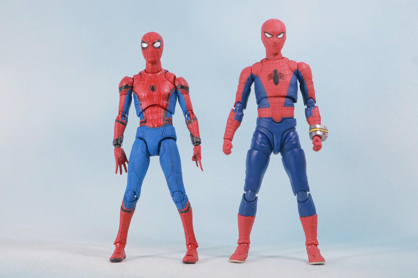 S.H.フィギュアーツ スパイダーマン 東映版 レビュー 全身 MAFEX スパイダーマン ホームカミング 比較