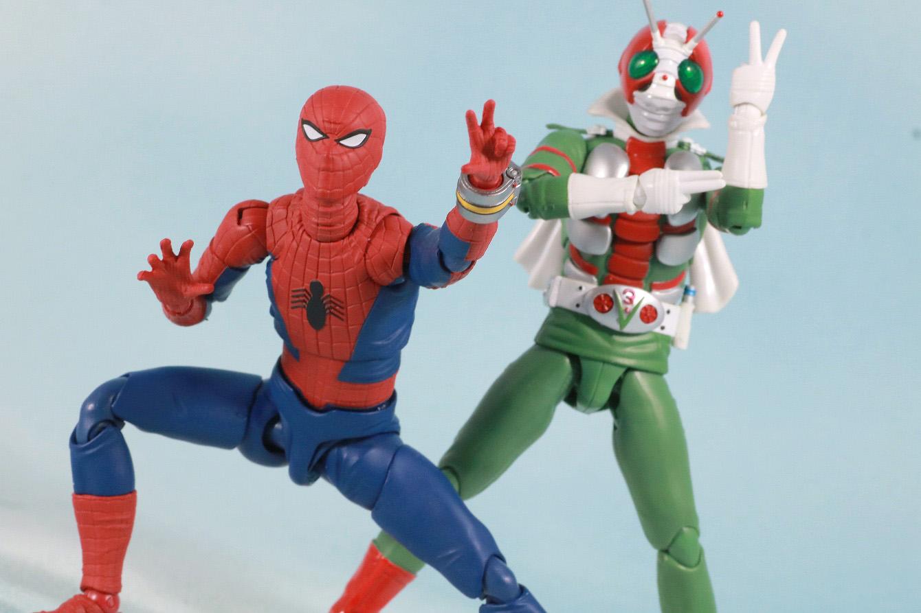 S.H.フィギュアーツ スパイダーマン 東映版 レビュー アクション 仮面ライダーV3