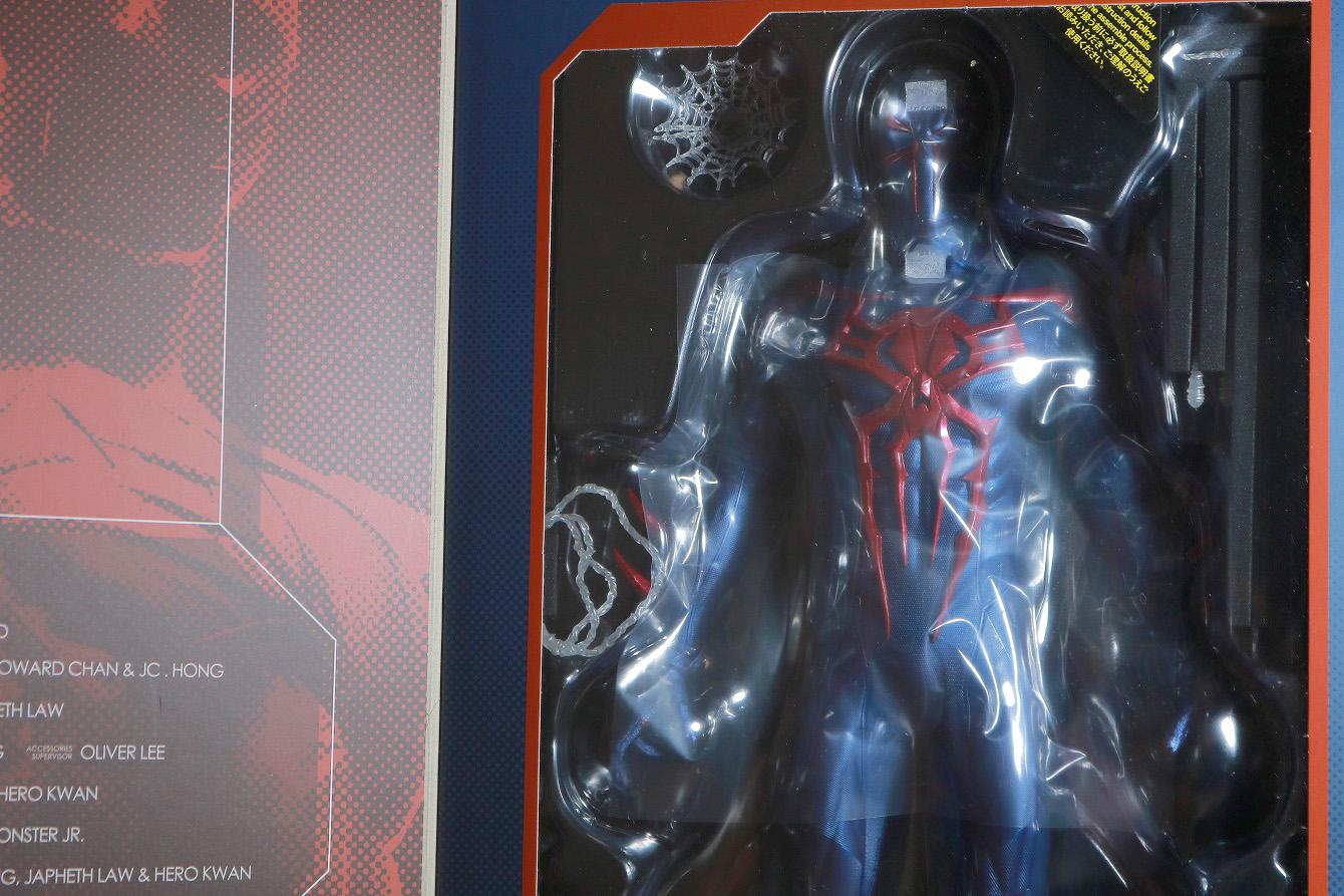 ホットトイズ ビデオゲームマスターピース スパイダーマン2099 レビュー パッケージ