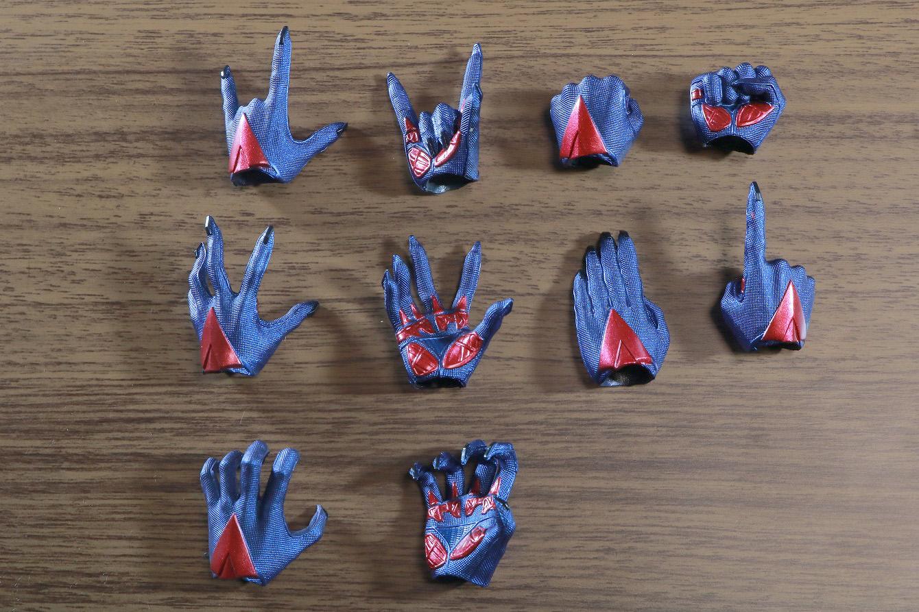 ホットトイズ ビデオゲームマスターピース スパイダーマン2099 レビュー 付属品 手首