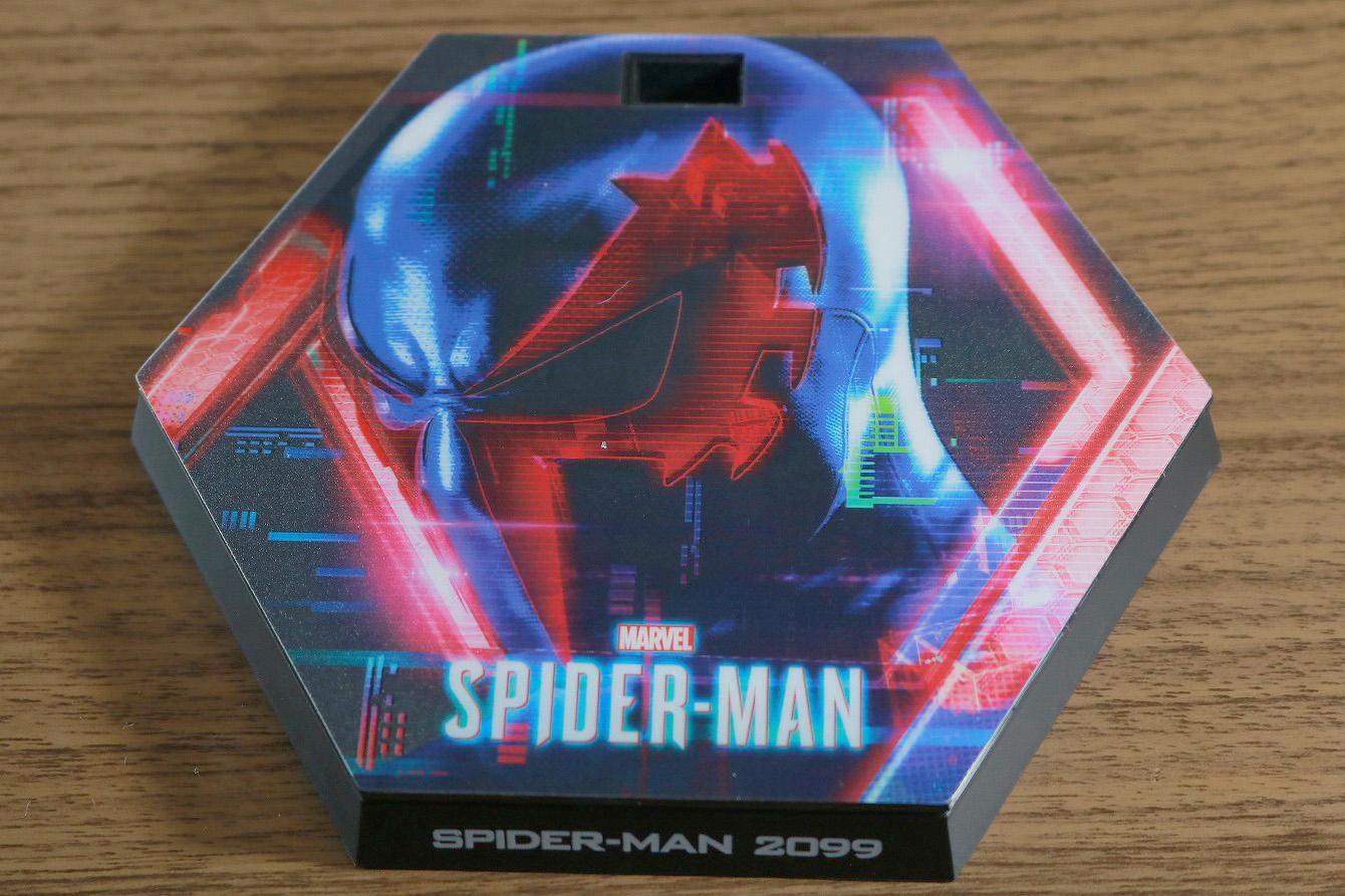 ホットトイズ ビデオゲームマスターピース スパイダーマン2099 レビュー 付属品 専用台座