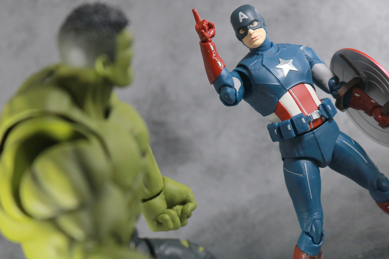 S.H.フィギュアーツ キャプテンアメリカ CAP VS CAP レビュー アクション ハルク