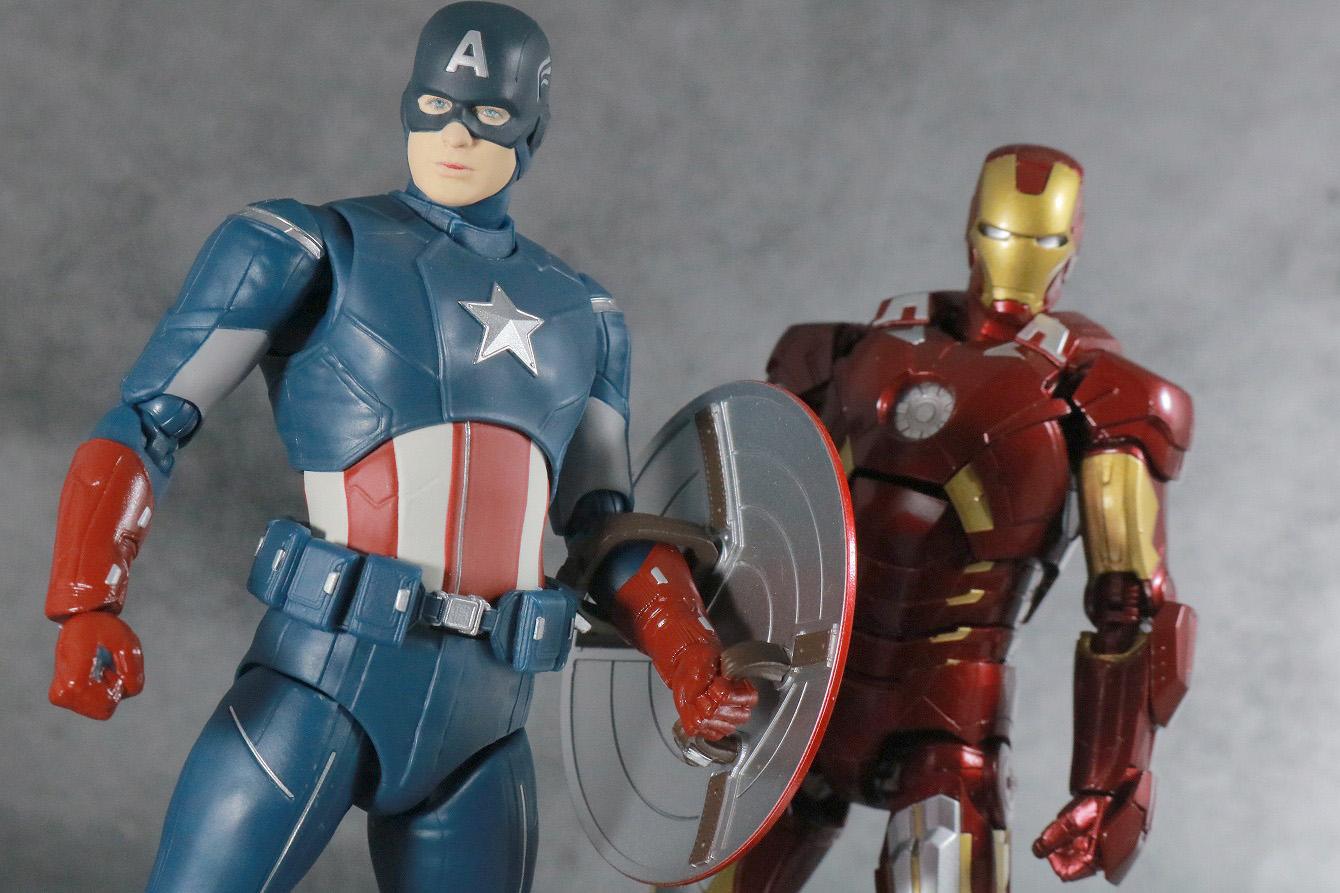 S.H.フィギュアーツ キャプテンアメリカ CAP VS CAP レビュー アクション アイアンマン マーク7