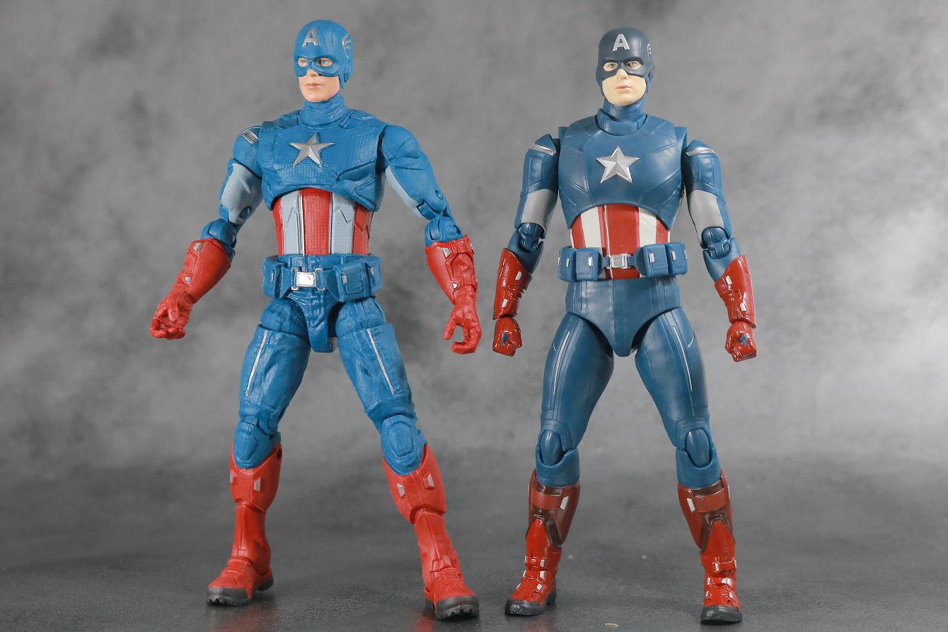 S.H.フィギュアーツ キャプテンアメリカ CAP VS CAP レビュー 本体 マーベルレジェンド 比較