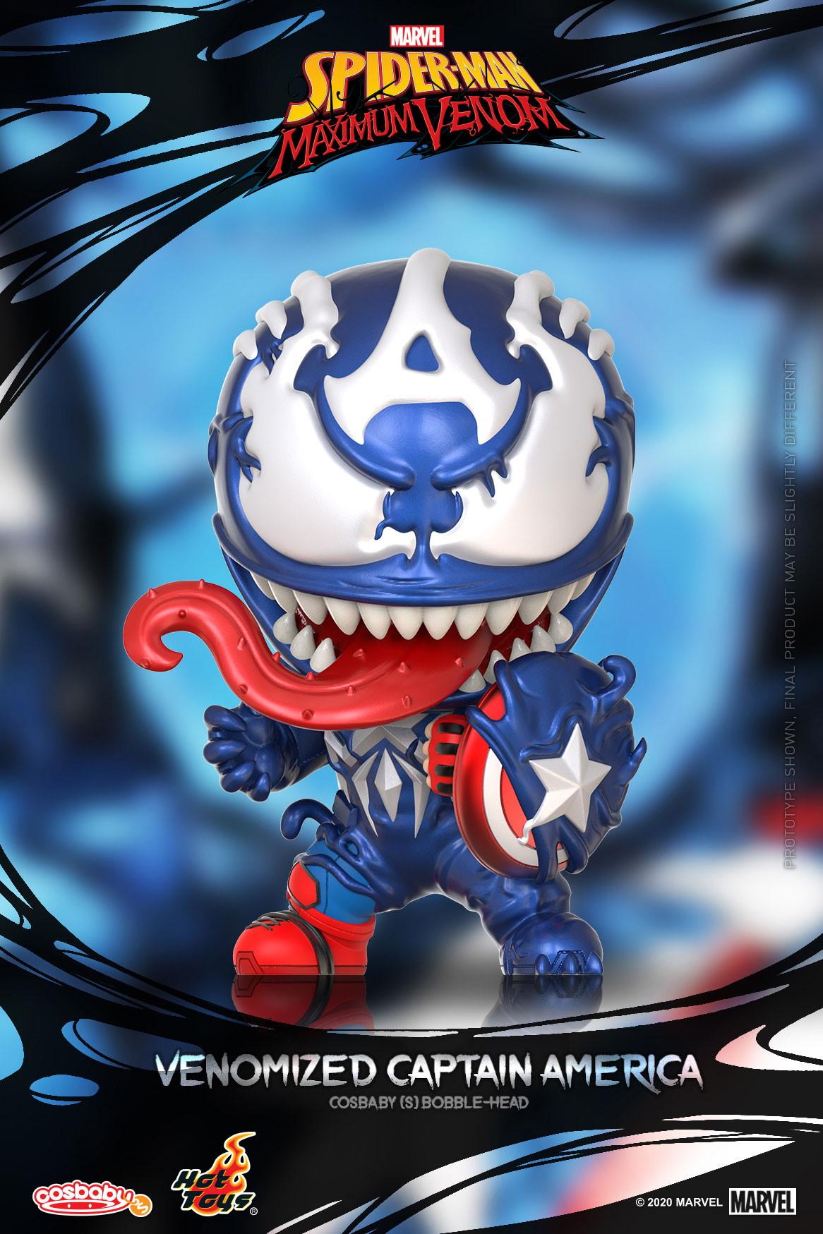 ■【コスベイビー】『スパイダーマン:マキシマム・ヴェノム』[サイズS]キャプテン・アメリカ(ヴェノム版)