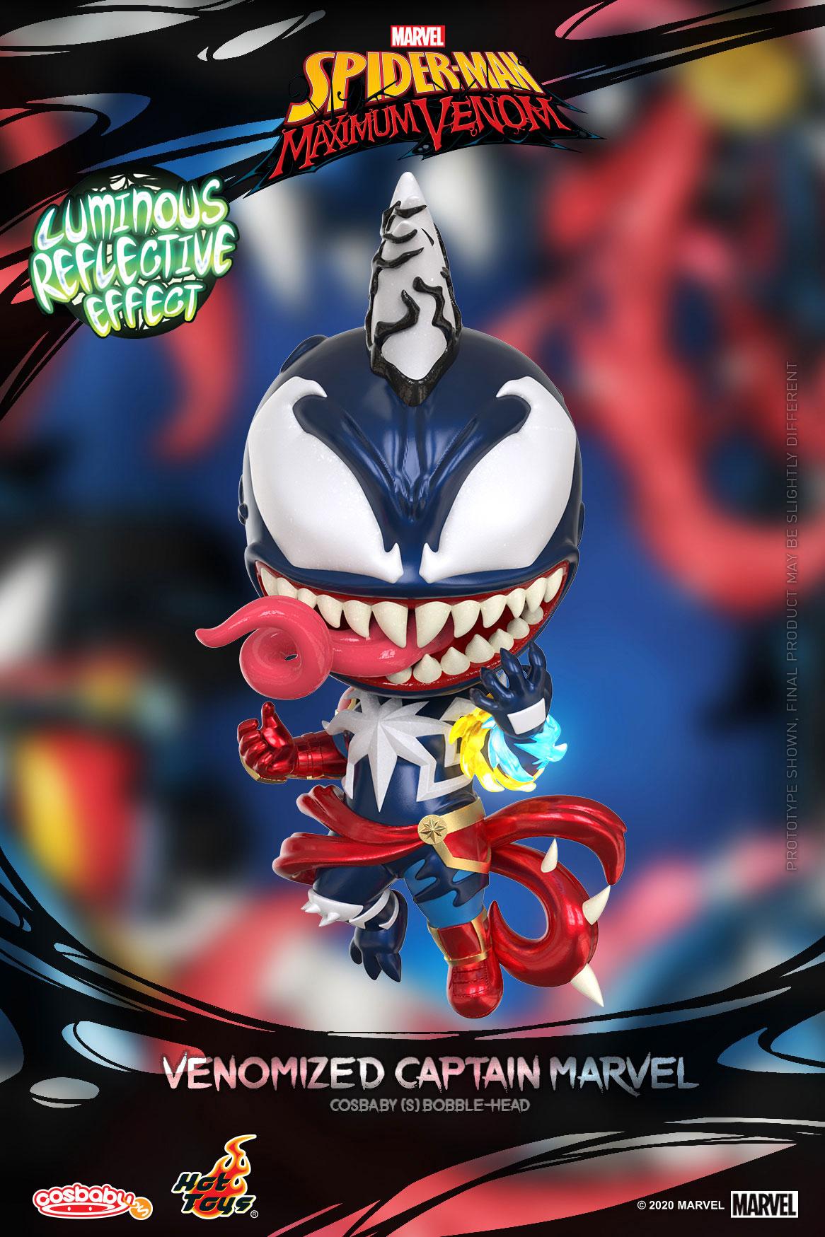 ■【コスベイビー】『スパイダーマン:マキシマム・ヴェノム』[サイズS]キャプテン・マーベル(ヴェノム版)