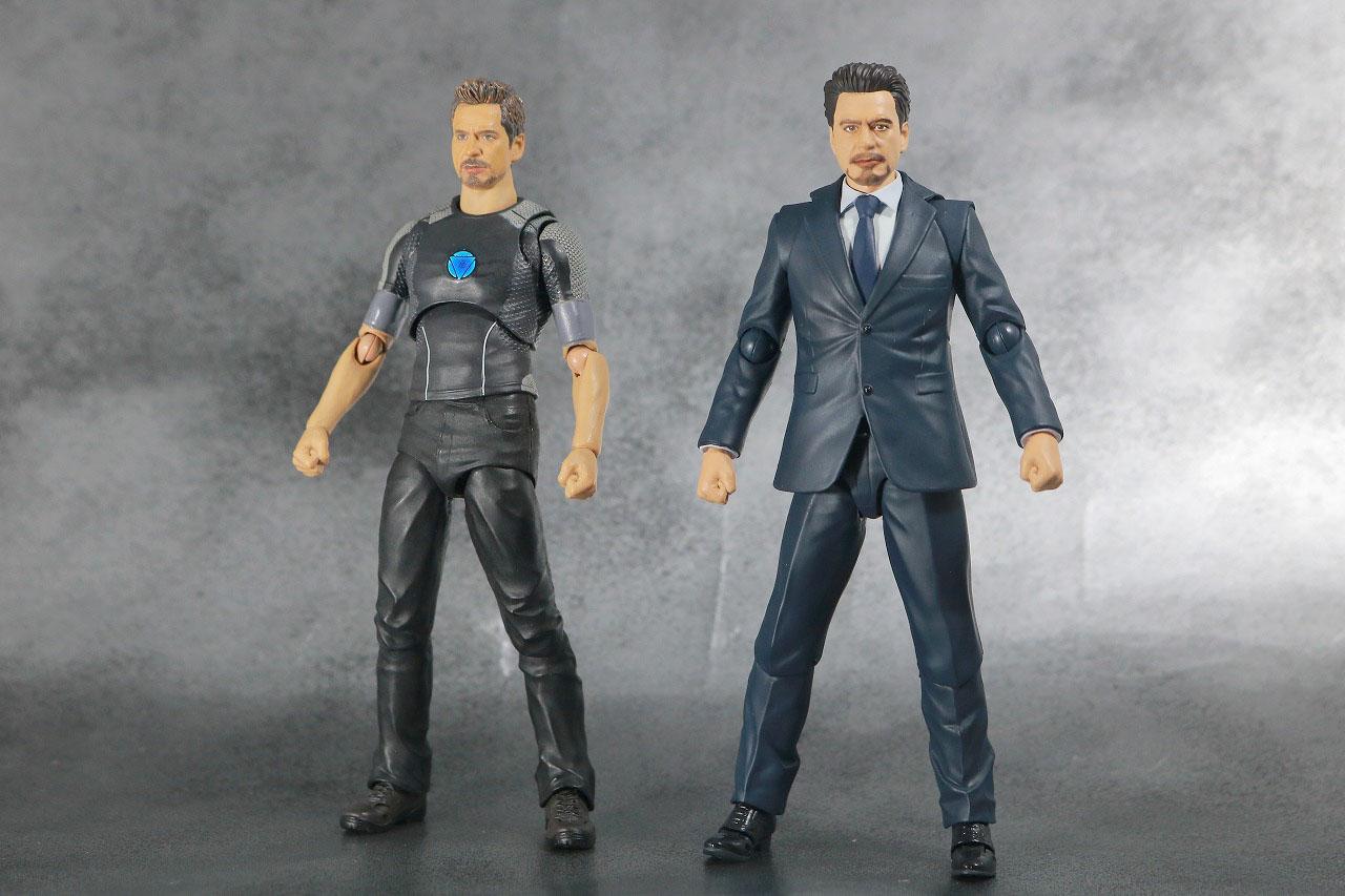 S.H.フィギュアーツ トニー・スターク Birth of Iron Man レビュー 全身 アイアンマン3 比較