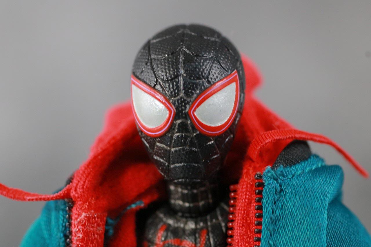 MAFEX スパイダーマン マイルス・モラレス スパイダーバース レビュー 付属品 マスクヘッド