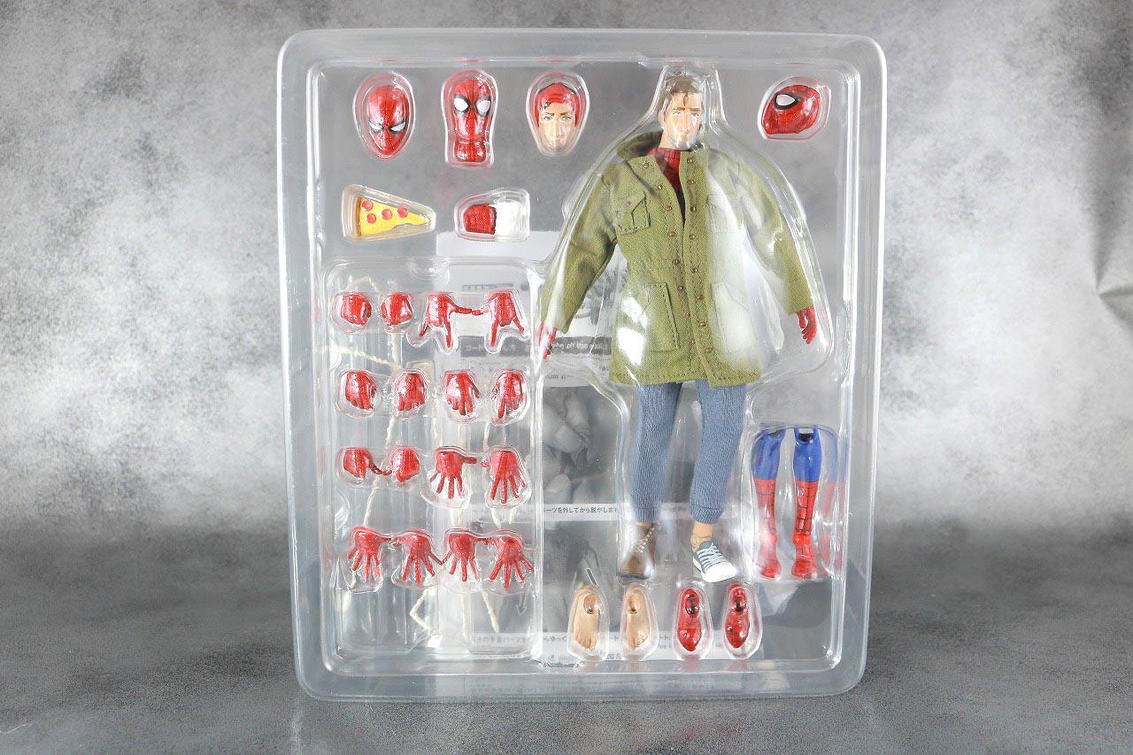 MAFEX スパイダーマン ピーター・B・パーカー レビュー パッケージ