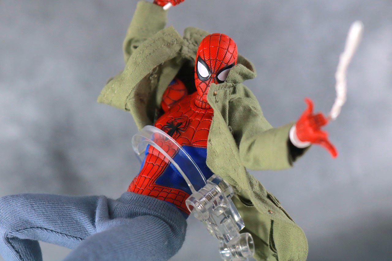 MAFEX スパイダーマン ピーター・B・パーカー レビュー アクション