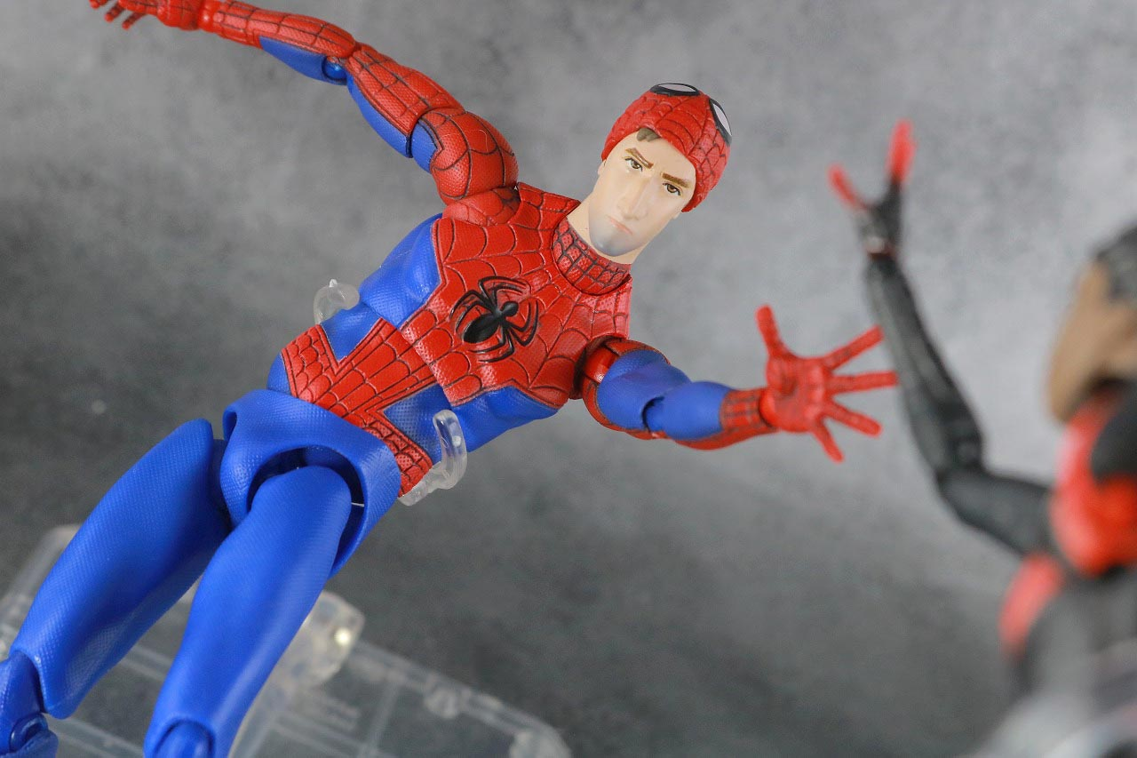 MAFEX スパイダーマン ピーター・B・パーカー レビュー アクション マイルス・モラレス