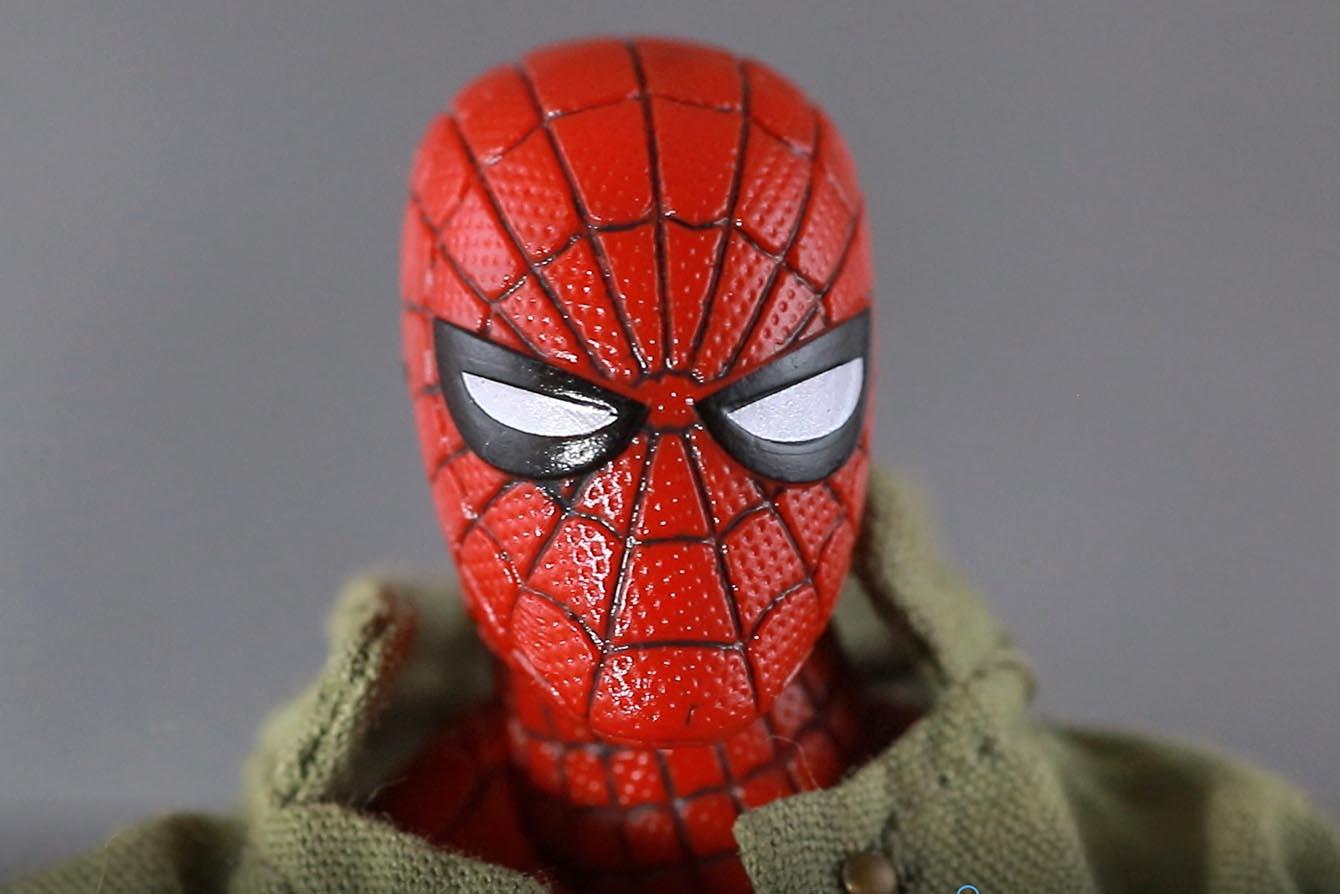 MAFEX スパイダーマン ピーター・B・パーカー レビュー 付属品 差し替えマスクヘッド