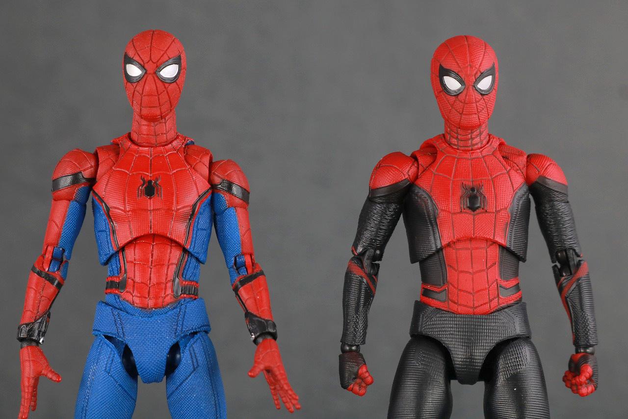 MAFEX マフェックス スパイダーマン アップグレードスーツ レビュー 本体 ホームカミング 比較