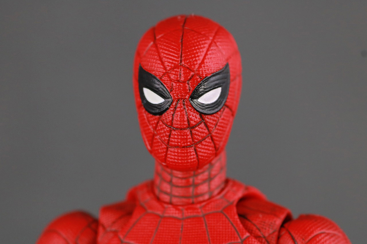 MAFEX マフェックス スパイダーマン アップグレードスーツ レビュー 付属品 睨み顔