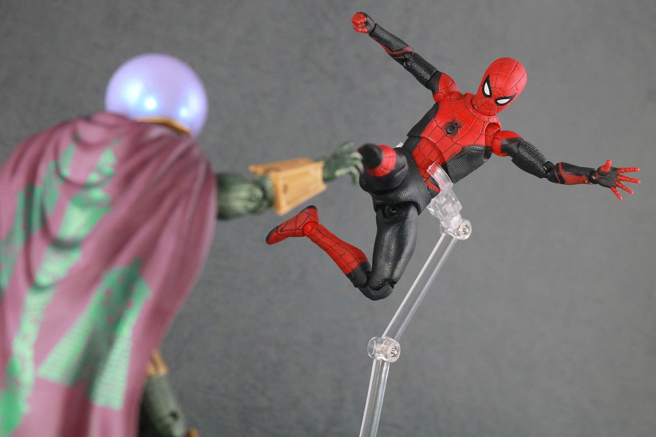 MAFEX マフェックス スパイダーマン アップグレードスーツ レビュー アクション マーベルレジェンド ミステリオ