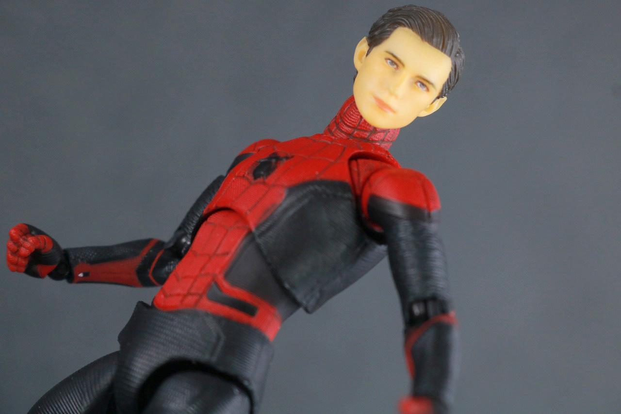 MAFEX マフェックス スパイダーマン アップグレードスーツ レビュー アクション ピーター・パーカー