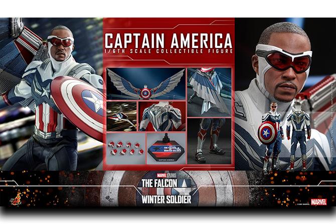 【予約開始】ホットトイズ新作!サム・ウィルソン版キャプテンアメリカが2022年12月に発売!コスベイビーも登場!