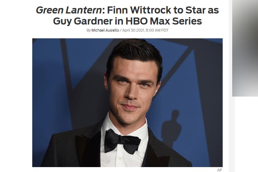 ドラマ『グリーンランタン』ガイ・ガードナーにフィン・ウィットロックが出演 ー 主人公のひとりへ