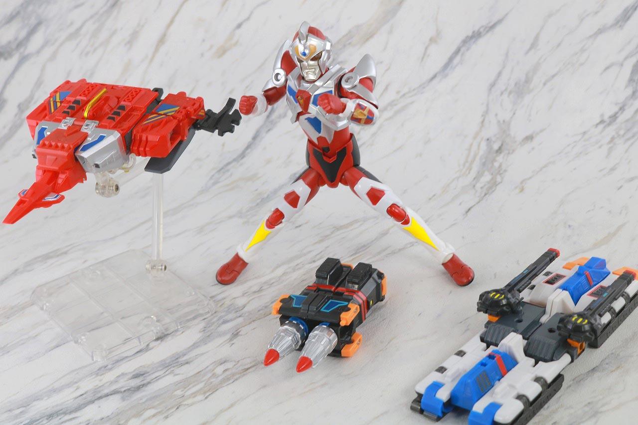 HAF Hero Action Figure サンダージェット ツインドリラー ゴッドタンク レビュー アクション グリッドマン