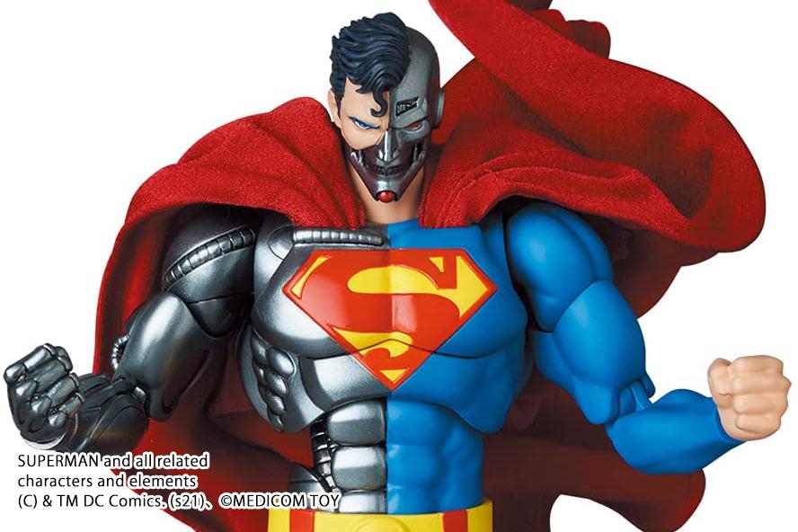 MAFEX新作!サイボーグスーパーマンが2022年5月に発売決定!メタリックな質感を再現!