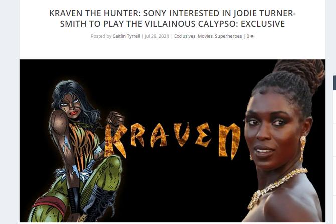 『クレイヴン・ザ・ハンター』、新たにジョディ・ターナー=スミス出演の報道 ー カリプソ役に抜擢?