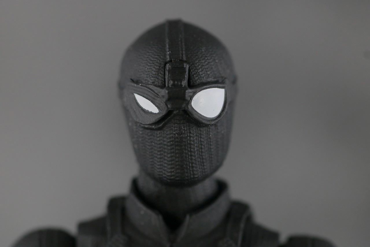 MAFEX スパイダーマン ステルス・スーツ レビュー 付属品 交換用目パーツ