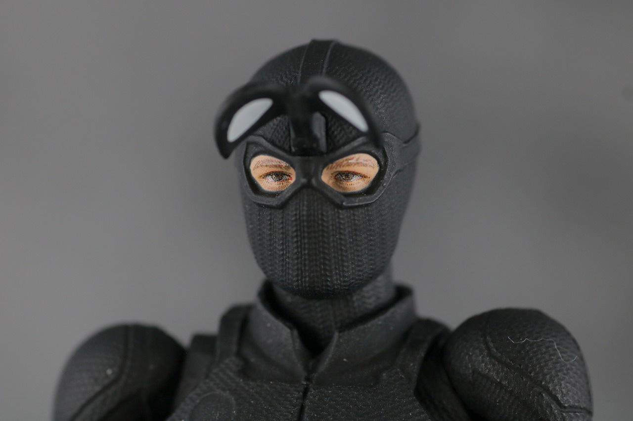 MAFEX スパイダーマン ステルス・スーツ レビュー 付属品 交換用ヘッド 開閉ゴーグル
