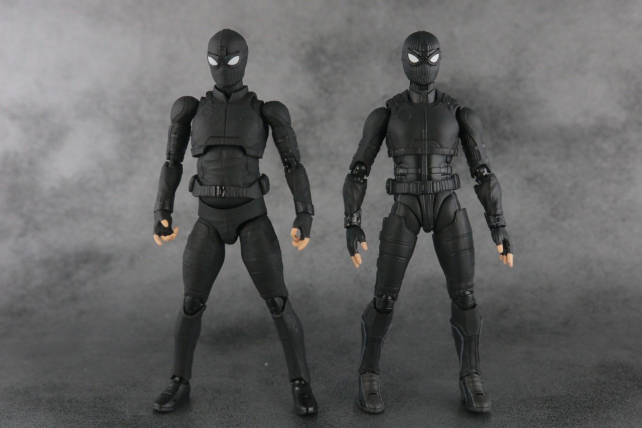 MAFEX スパイダーマン ステルス・スーツ レビュー 本体 S.H.フィギュアーツ 比較