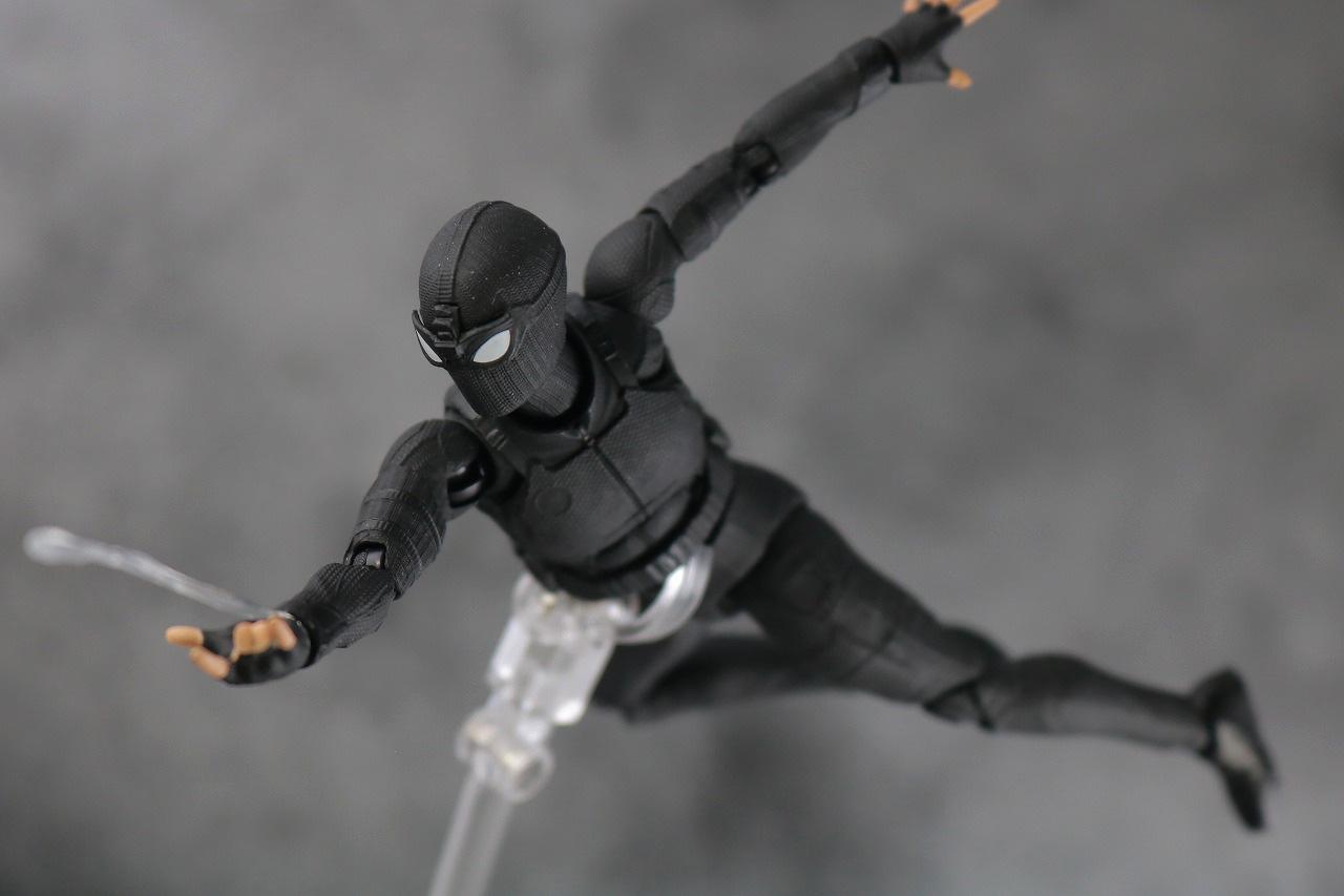 MAFEX スパイダーマン ステルス・スーツ レビュー アクション