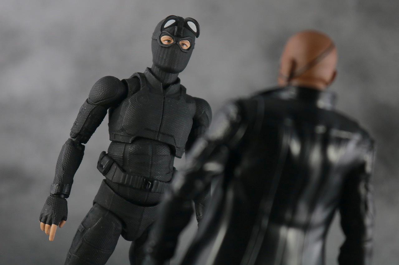 MAFEX スパイダーマン ステルス・スーツ レビュー アクション S.H.フィギュアーツ ニック・フューリー