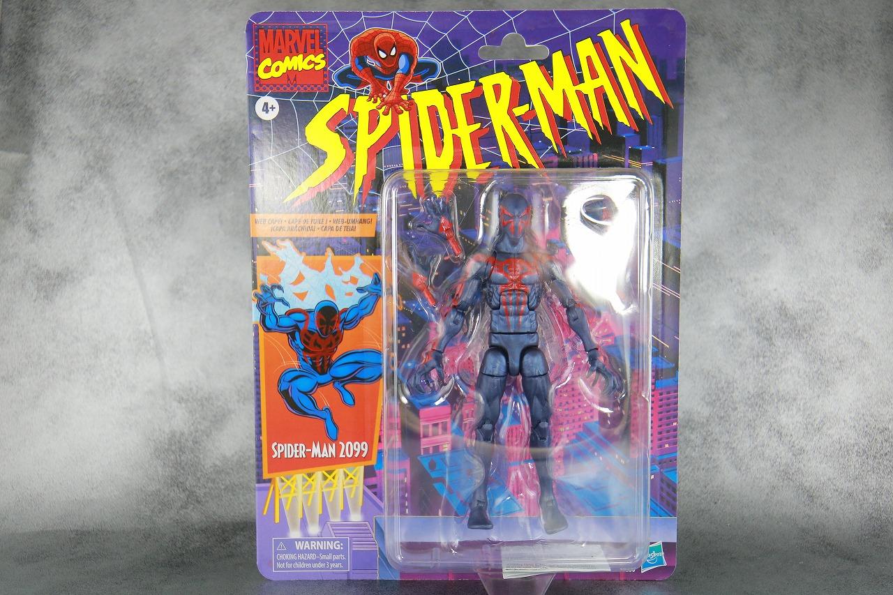 マーベルレジェンド スパイダーマン2099 レトロパッケージ レビュー パッケージ