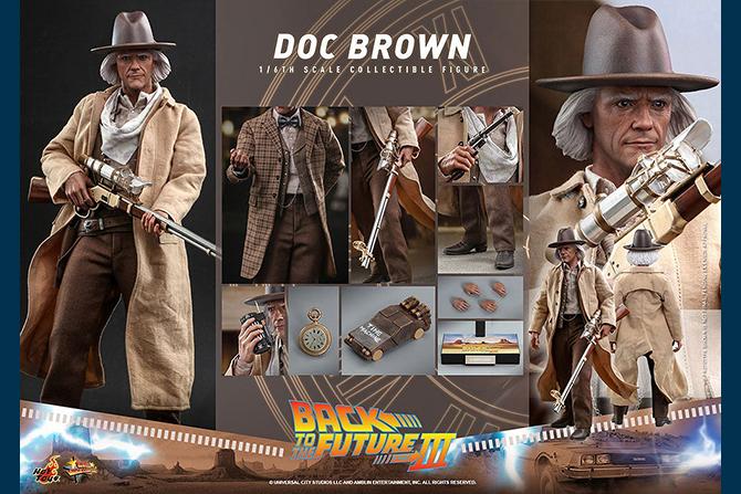 """ホットトイズ新作!""""ドク""""ことエメット・ブラウン博士が『バック・トゥ・ザ・フューチャー PART3』版として23年2月発売!"""