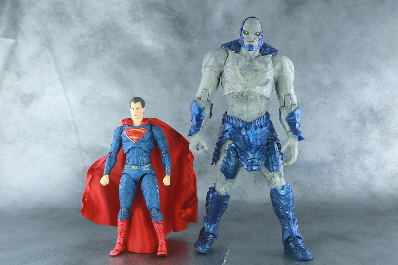 DCマルチバース ダークサイド ジャスティスリーグ:ザック・スナイダーカット レビュー 本体 MAFEX スーパーマン 比較