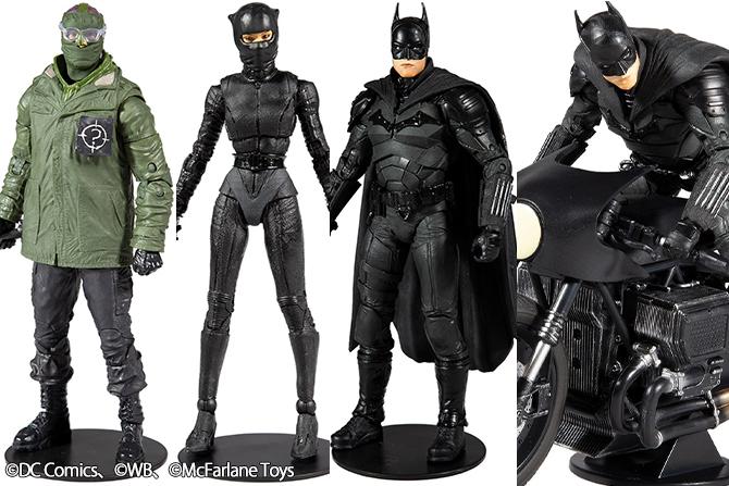 【米Amazon】DCマルチバース新作!『ザ・バットマン』バットマン&キャットウーマン&リドラー&バットサイクルが22年1月発売!